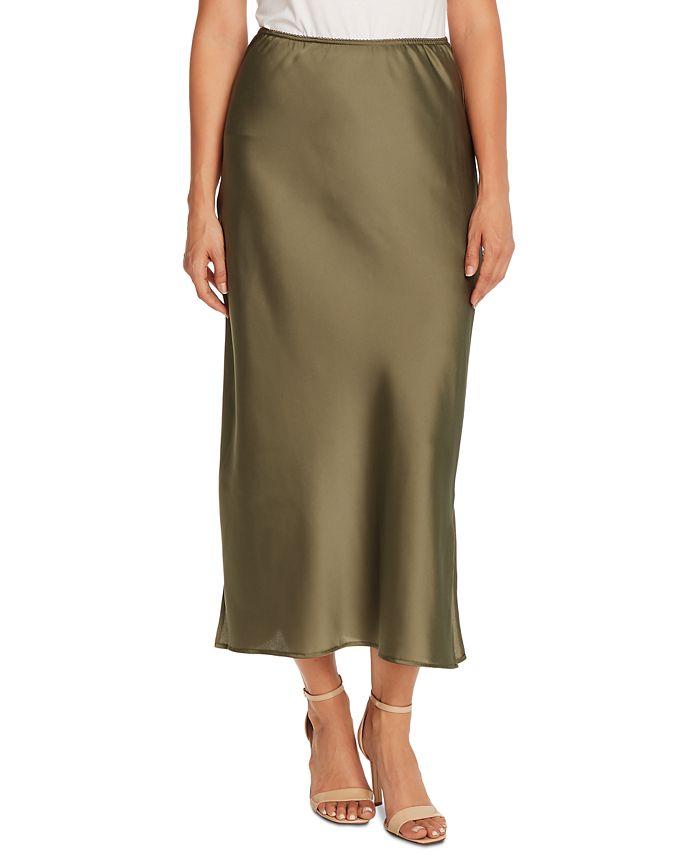 Vince Camuto - Charmeuse Side-Slit Maxi Skirt