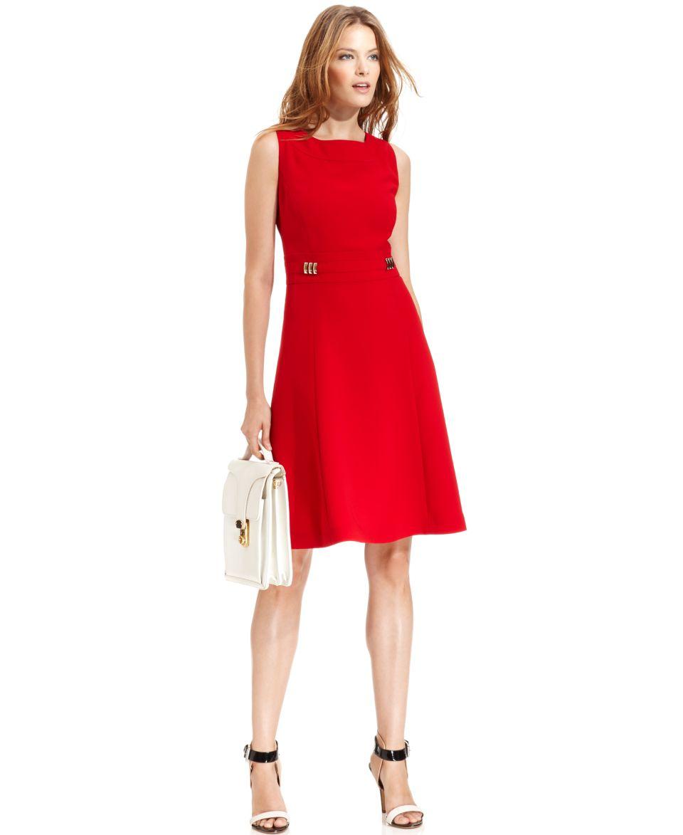 Tahari Petite Sleeveless Belted Dress   Dresses   Women