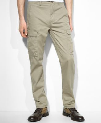 Levi's Slim Straight Timberwolf Cargo Pants - Pants - Men - Macy's