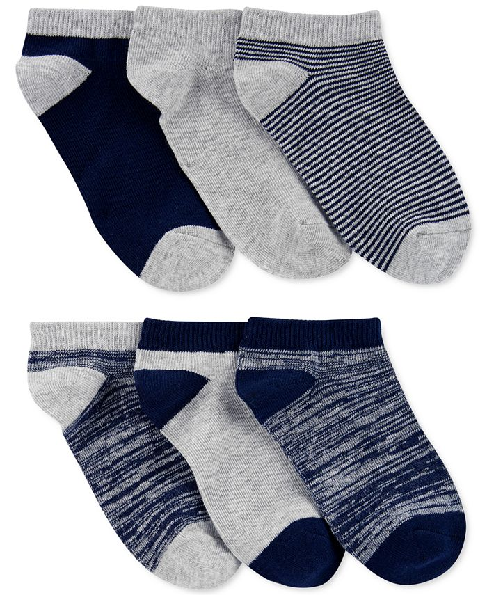 Carter's - Little & Big Boys 6-Pk. Ankle Socks
