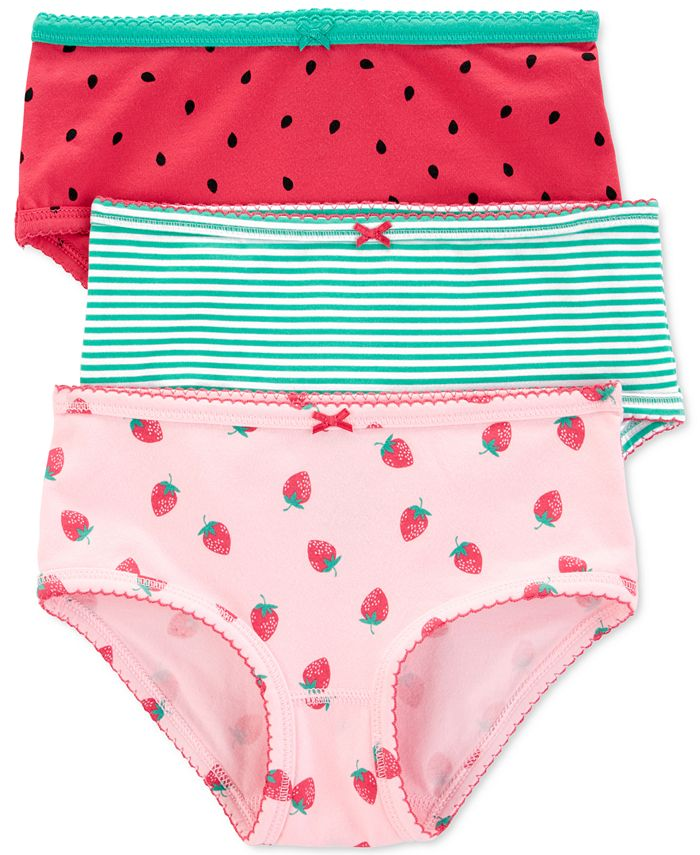Carter's - Little Girls 3-Pack Strawberry-Print Underwear