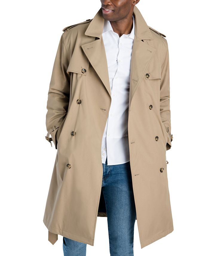London Fog - Men's Classic-Fit Double-Breasted Trenchcoat