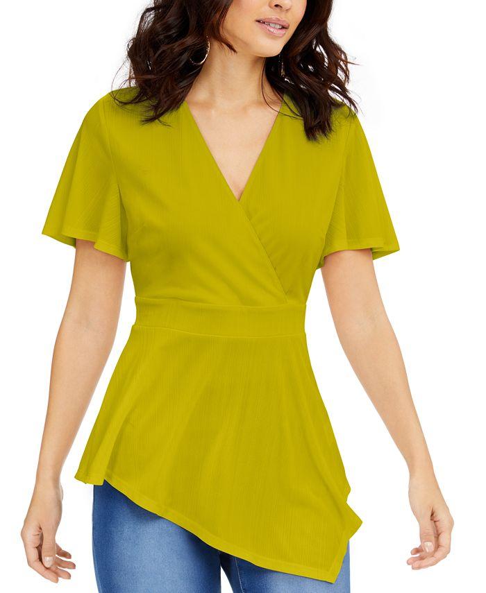 Thalia Sodi - Asymmetrical Hem Surplice Top, Created for Macy's