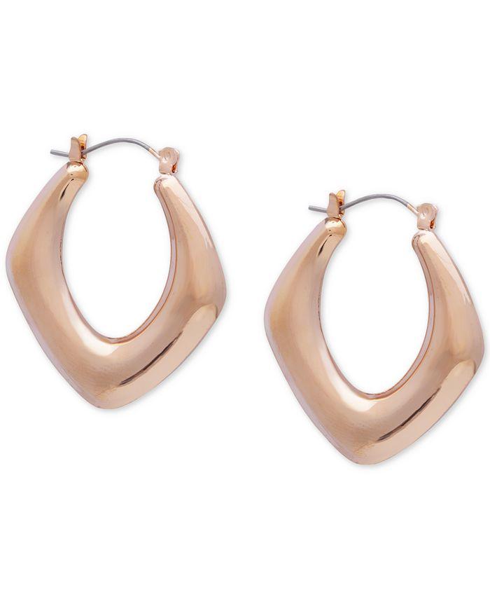 GUESS - Diamond-Shape Hoop Earrings