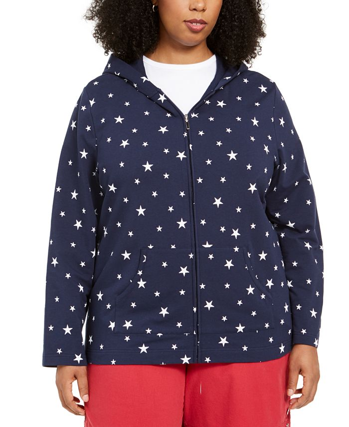 Karen Scott - Plus Size Star-Print Hoodie