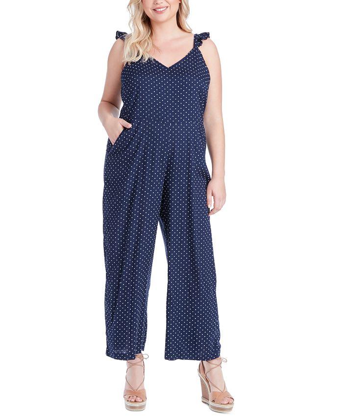 Jessica Simpson - Trendy Plus Size Martina Printed Jumpsuit