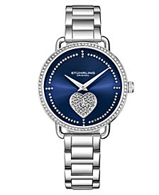 Stuhrling Women's Silver Tone Stainless Steel Bracelet Watch 38mm
