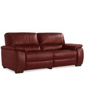 Marchella Leather Dual Power Reclining Loveseat