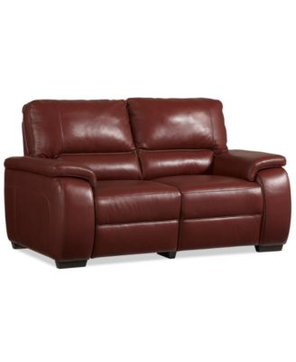 Declan Leather Pushback Recliner Furniture Macy S