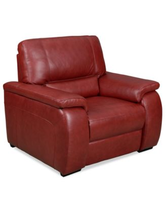 Marchella Leather Reclining Loveseat Dual Power Recliner