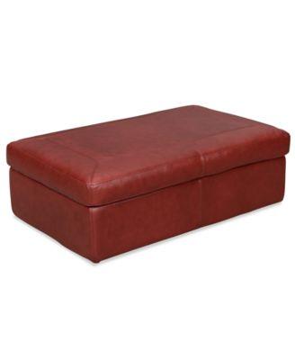 Swell Marchella Leather Storage Ottoman Beatyapartments Chair Design Images Beatyapartmentscom