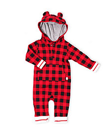 Snugabye Hot Cocoa Baby Boys and Girls Hooded Jumpsuit