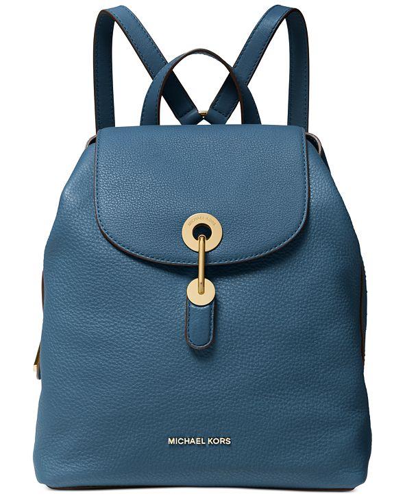 Michael Kors Raven Leather Backpack