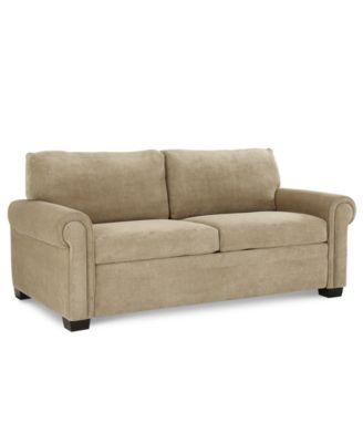 "Alaina Sofa Bed Queen Sleeper 77""W x 40""D x 35""H Furniture Macy s"