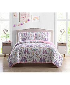 MHF Home Kids Unicorn Magic Castle Full/Queen Quilt Set