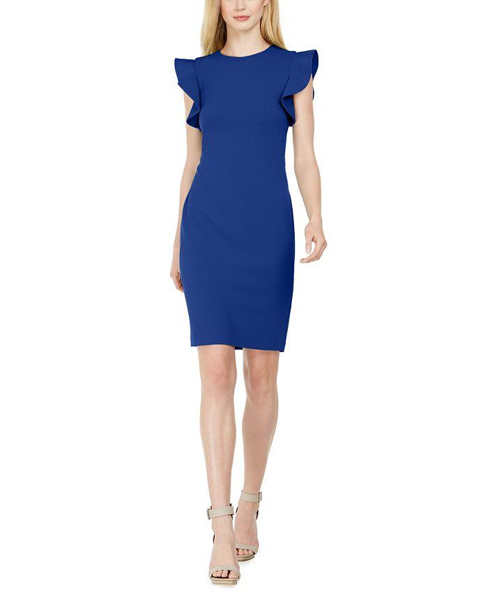 Calvin Klein - Stitched-Ruffle Sheath Dress
