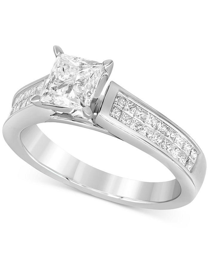 Macy's - Diamond Engagement Ring (1-5/8 ct. t.w.) in 14k White Gold