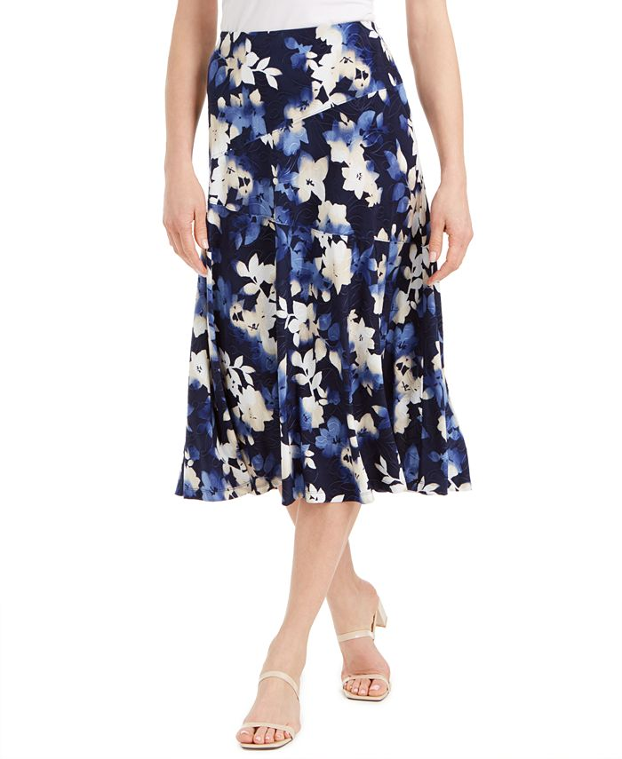 Jm Collection Printed Midi Skirt Created For Macy S Reviews Skirts Women Macy S