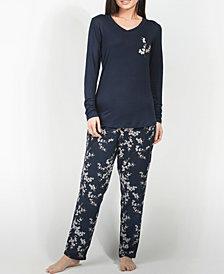 MOOD Pajamas Cherry Blossom Ultra Soft Long-Sleeve Pajama Set