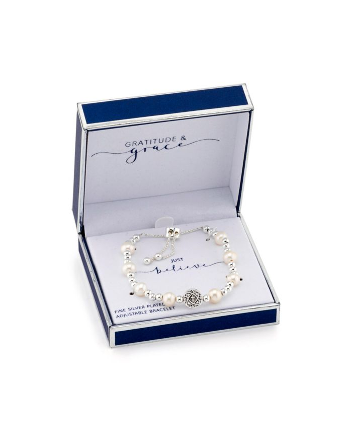 Unwritten Gratitude & Grace Cross and Pearl Bolo & Reviews - Bracelets - Jewelry & Watches - Macy's
