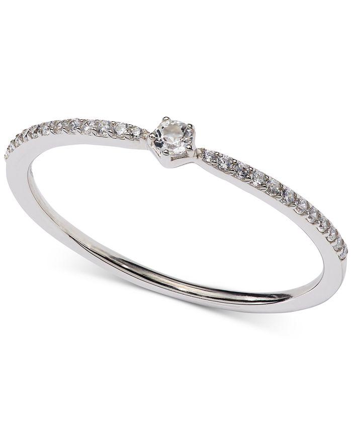 AVA NADRI - Crystal Band Ring