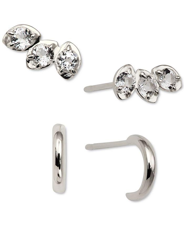 AVA NADRI - 2-Pc. Set Crystal Stud & Hoop Earrings
