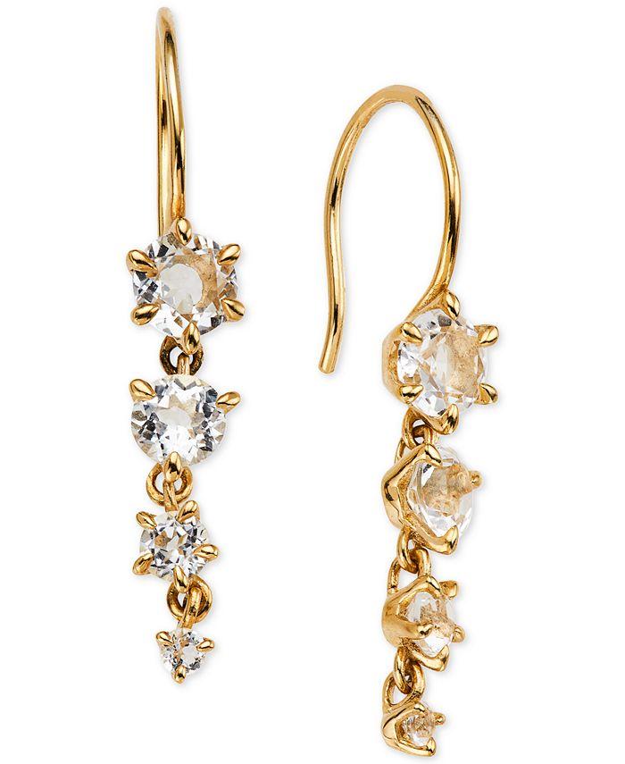 AVA NADRI - Crystal Graduated Drop Earrings