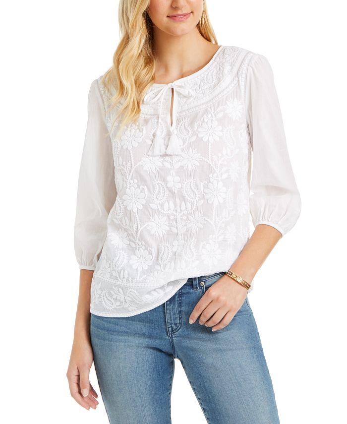 Style & Co - Cotton Peasant Blouse