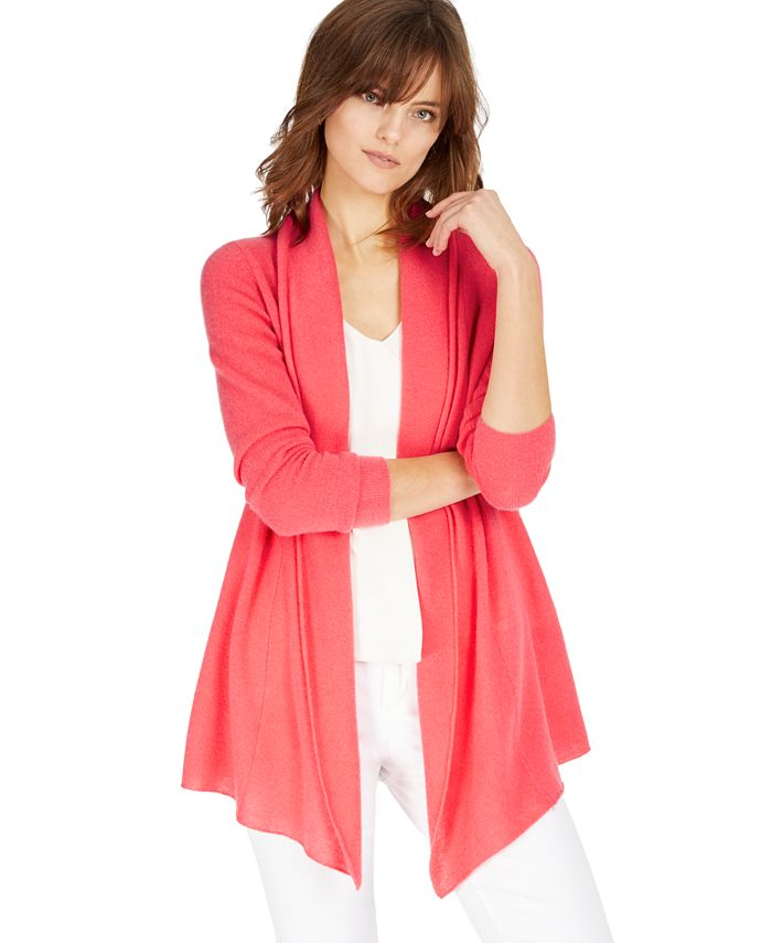 Charter Club - Rolled-Edge Cashmere Cardigan