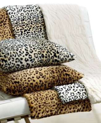 CLOSEOUT! Charter Club Faux Fur Animal Print Throw