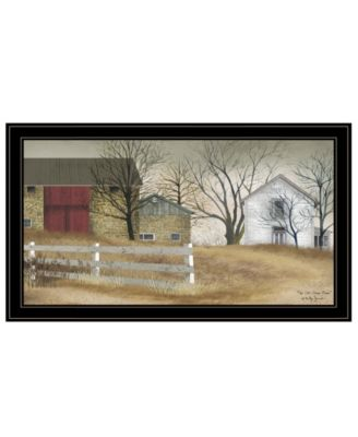 The Old Stone Barn by Billy Jacobs, Ready to hang Framed Print, Black Frame, 15