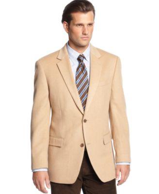 MICHAEL Michael Kors Solid Camel Hair Sport Coat - Blazers & Sport ...