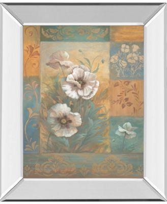 Pam's Poppies I by Vivian Flasch Mirror Framed Print Wall Art - 22