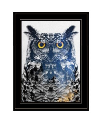 Night Owl by andreas Lie, Ready to hang Framed Print, White Frame, 15