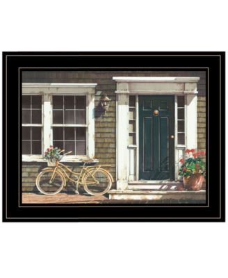 Parked Out Front by John Rossini, Ready to hang Framed Print, White Frame, 19