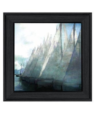 Sailboat Marina I by Bluebird Barn Group, Ready to hang Framed Print, Black Frame, 15