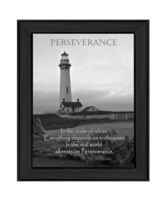 Perseverance By Trendy Decor4U, Printed Wall Art, Ready to hang, Black Frame, 18