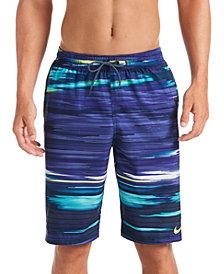 """Nike Men's Sky Stripe Vital 11"""" Volley Swim Trunks"""