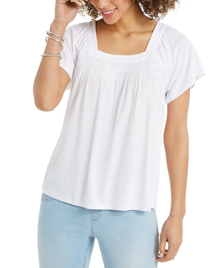 Style & Co - Square-Neck Top