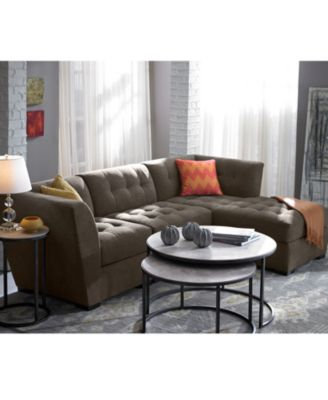 roxanne fabric 3piece modular sectional sofa corner armless chair u0026 chaise custom colors