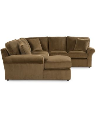 virtual fabric 3piece sectional sofa chaise loveseat and onearm sofa