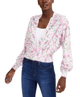 INC Printed Cardigan Sweater, Created for Macy