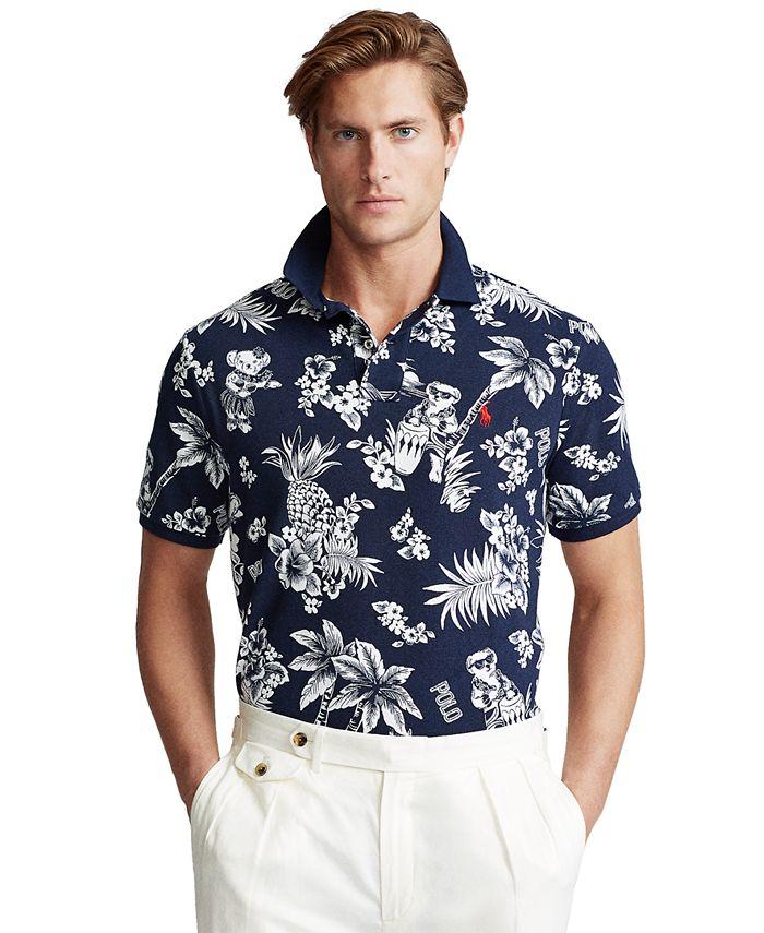 Polo Ralph Lauren Men's Big & Tall Classic-Fit Tropical Print Polo ...