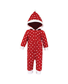 Hudson Baby Baby Girls and Boys Polka Dot Fleece Coveralls and Playsuits Jumpsuits