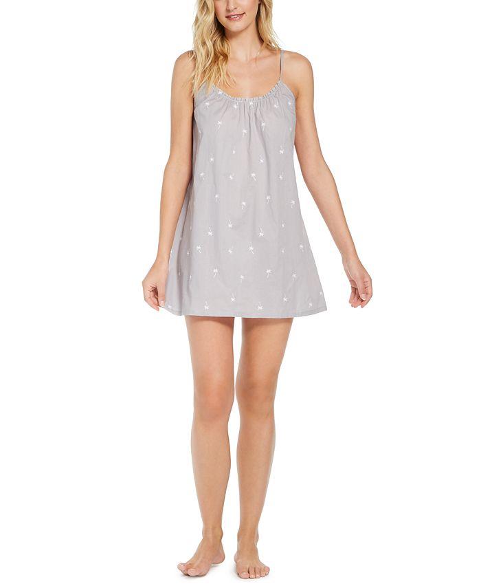 Jenni - Cotton Embroidered Ruffle Chemise Nightgown
