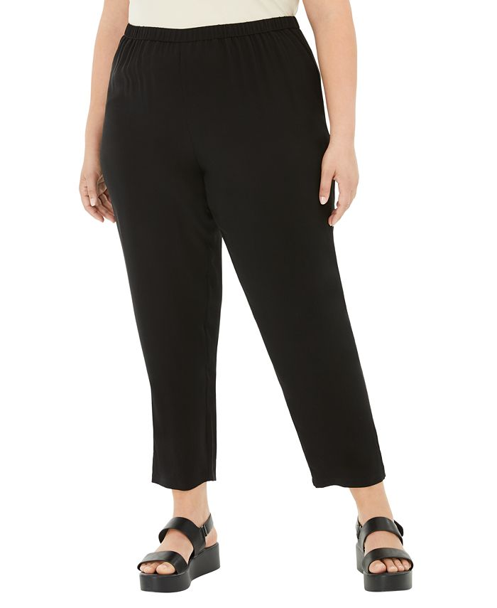 Eileen Fisher - Fisher Plus Size Silk Tapered Pants