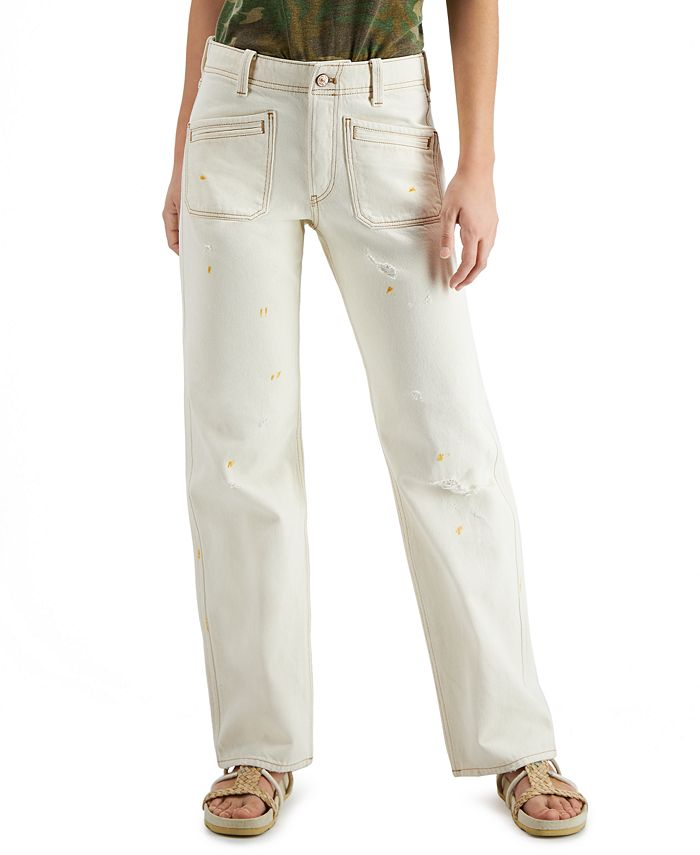 Free People - Go Easy Bootcut Distressed Mid-Rise Jeans