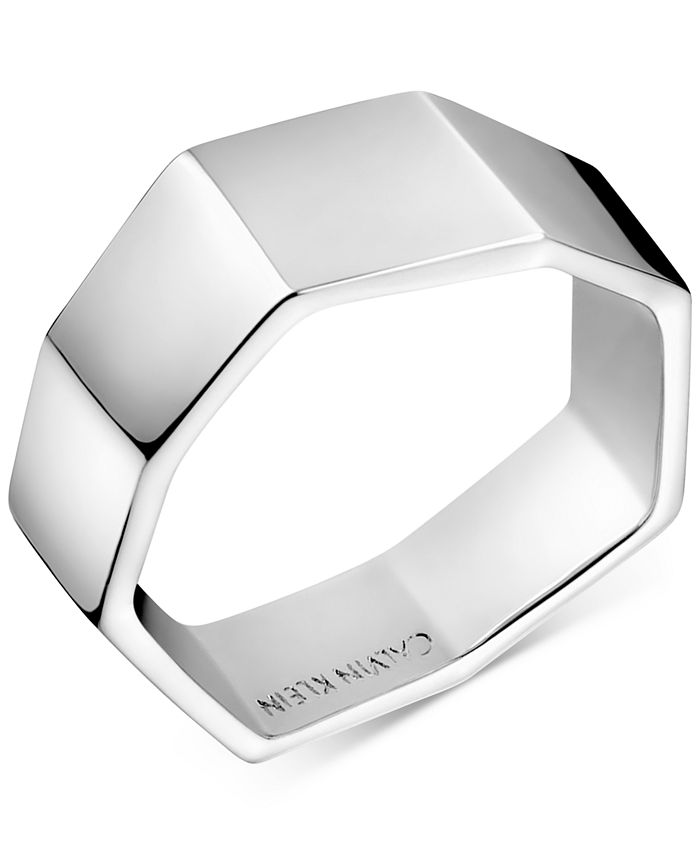 Calvin Klein - Angled Ring in Silver-Tone