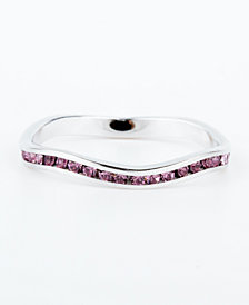 Swarovski Crystal Birthstone Stackable ring in Sterling Silver