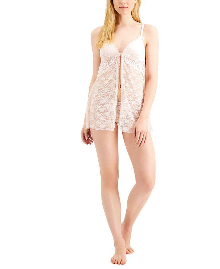 Linea Donatella - Stretch Lace Babydoll Nightgown